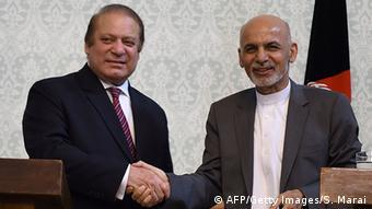 Pakistans Premier Sharif mit afghanischem Präsidenten Ghani in Kabul