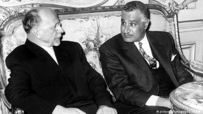 Walter Ulbricht (li.) mit dem ägyptischen Präsidenten Gamal Abdel Nasser (Foto: picture-alliance/dpa/Z. Nagati)