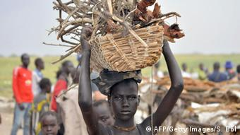 A refugee woman in South Sudan