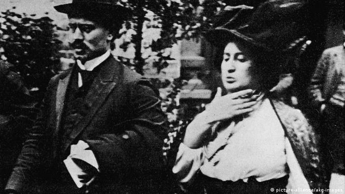 Iconic German politicians Rosa Luxemburg and Karl Liebknecht in 1919