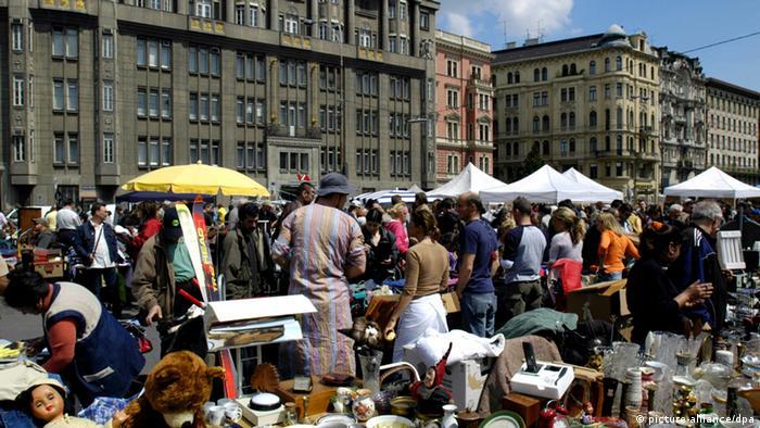 Рынок Naschmarkt в Вене