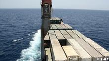 Das iranische Schiff Iran Shahed