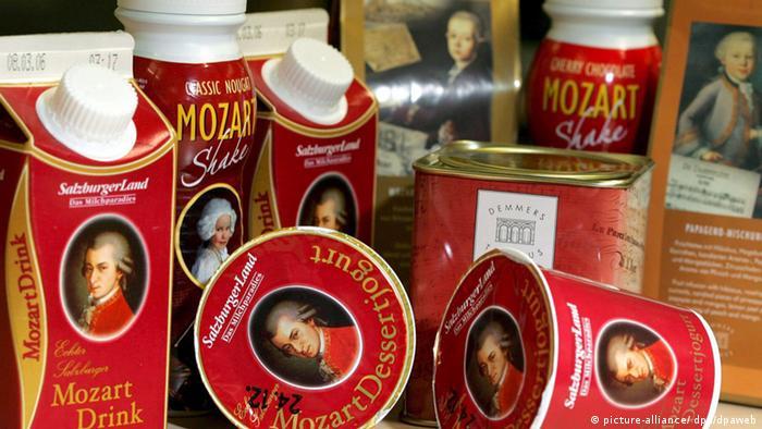 Сувениры с изображением Моцарта
