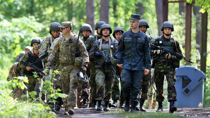 Военные советники США на совместных учениях с украинскими солдатами
