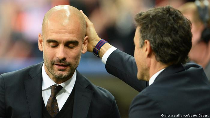 Pep Guardiola and Luis Enrique