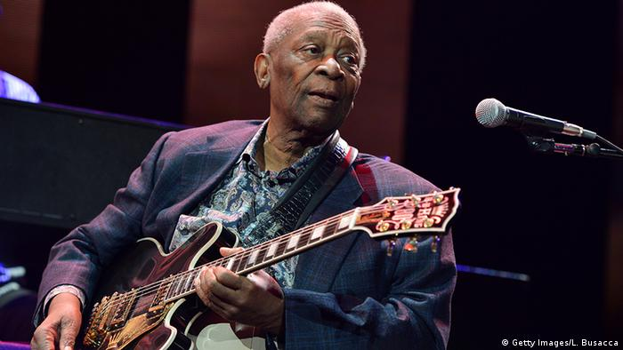 B.B. King pictured in 2013, Copyright:, Getty Images/L. Busacca