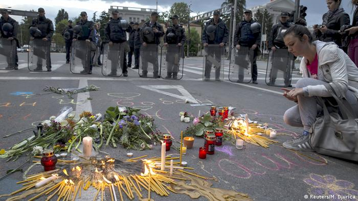 Mazedonien nach den Kämpfen in Kumanovo Trauer (Reuters/M. Djurica)