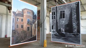 Jörg Schöner's photos in the exhibition Auferstehung eines Denkmals, Copyright: Andrea Kasiske