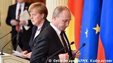 Russland Deutschland Angela Merkel bei Wladimir Putin in Moskau