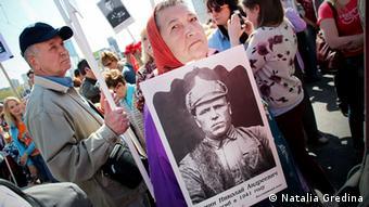 Russland Demos Unsterbliches Regiment