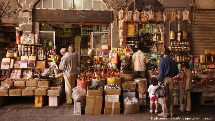 A market in Damascus. The photo is believed to have been taken in 2010.