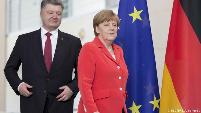 Меркель и Порошенко в Берлине 13 мая