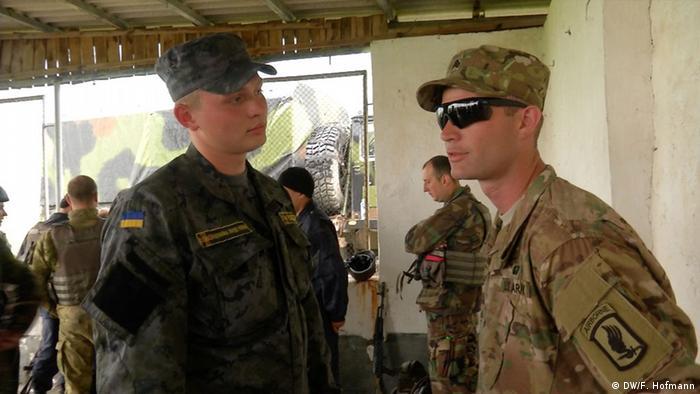 Американські солдати тренують бійців Національної гвардії України