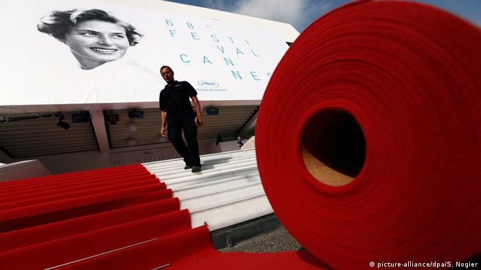Cannes, Roter Teppich der Filmfestspiele 2015 ausgerollt