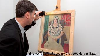 Deutschland Gurlitt Rückgabe des Gemälde In einem Sessel sitzende Frau von Matisse