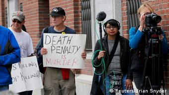 Prozess Terroranschlag Boston Proteste gegen Todesstrafe