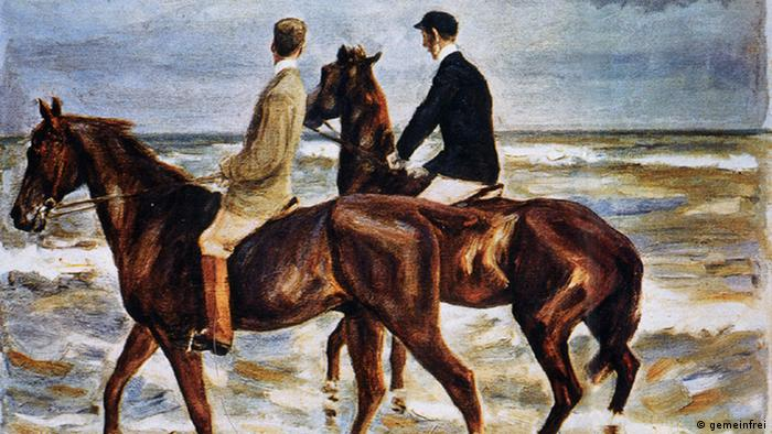 Max Liebermann's Two Riders on the Beach