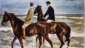 Max Liebermann's Two Riders on the Beach (1901), Copyright: gemeinfrei