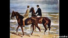 Zwei Reiter am Strand aus dem Schwabinger Kunstfund (vermutlich bis 1939 Sammlung David Friedmann, Breslau) Quelle: http://de.wikipedia.org/wiki/Zwei_Reiter_am_Strand#/media/File:Liebermann,_Max_-_Zwei_Reiter_am_Strand_-_Gurlitt.jpg