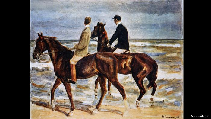 Max Liebermann's painting Two Riders on the Beach