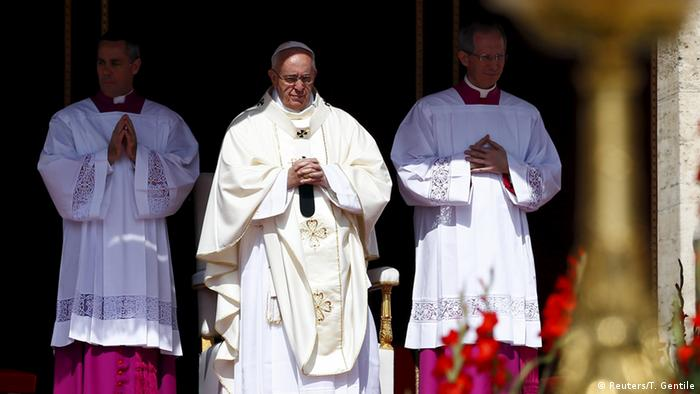 Pope Francis leads a ceremony for the canonisation of four nuns at Saint Peter's square in the Vatican City, May 17, 2015.