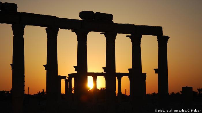 Oasenstadt Palmyra Sonnenuntergang