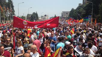 Mazedonien Demonstration in Skopje