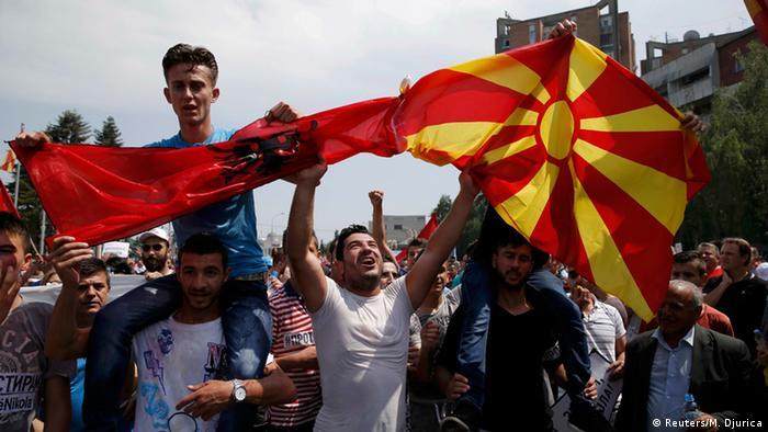 Mazedonien Demonstration in Skopje