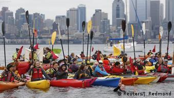 Protest gegen Ölbohrungen in der Arktis