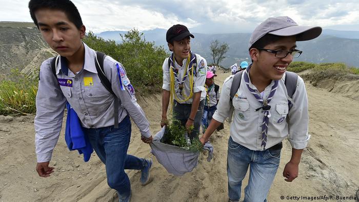 Ecuador holt Weltrekord im Bäumepflanzen