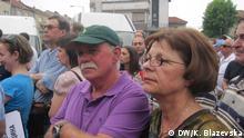 Massendemonstration der Opposition zum Sturz der Regierung in Mazedonien