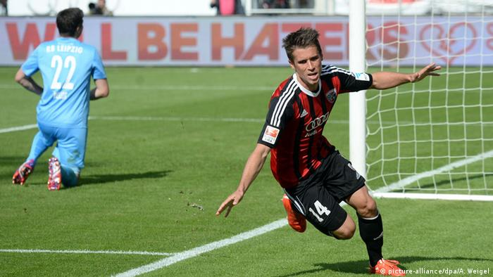 Stefan Lex celebrates a goal for Ingolstadt