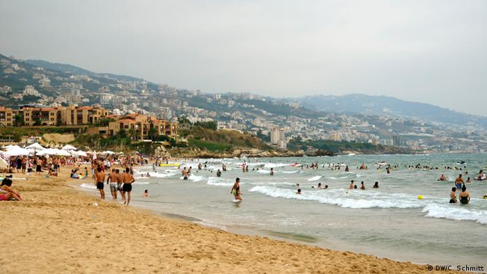 Beach scenery between Beirut and Byblos in September 2014.