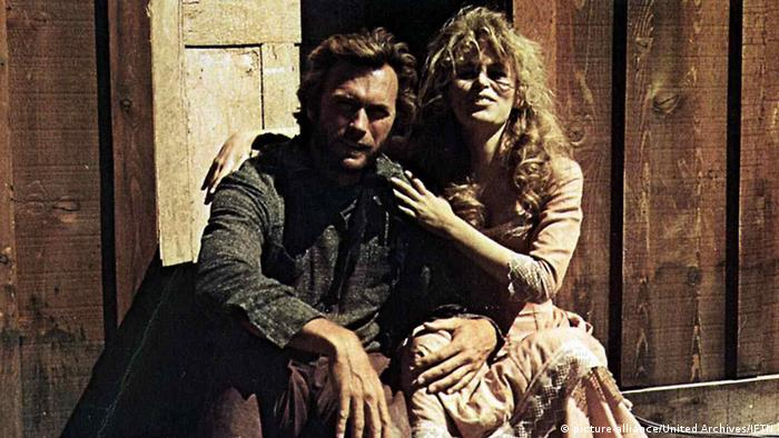 Clint Eastwood and Verna Bloom in High Plains Drifter