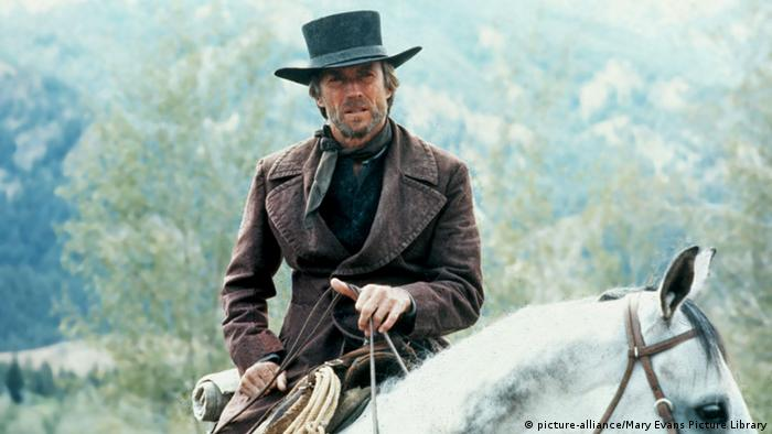 Clint Eastwood on horseback in Pale Rider