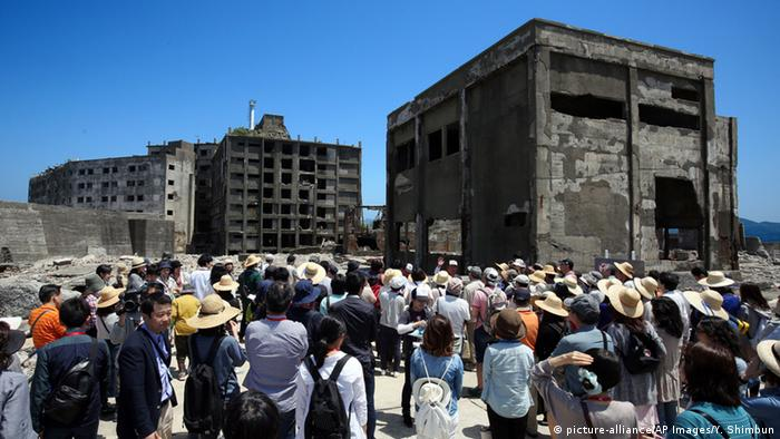 Japan's UNESCO world heritage site, Hashima Coal Mine. Copyright: AP Images.