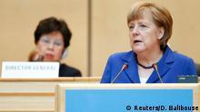 Deutschland Merkel bei der Weltgesundheitsversammlung