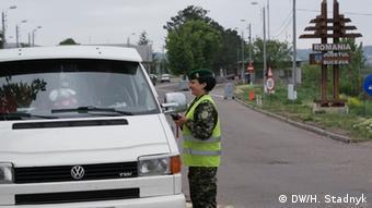 Grenzposten Ukraine-Rumänien