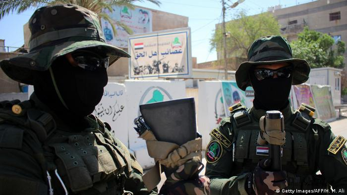 Irak schiitische Kämpfer bei Basra