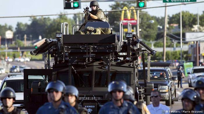 Polizei, Ausrüstung, Militärfahrzeuge, USA