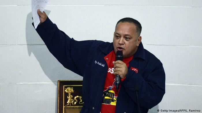 Venezuela Parlamentspräsident Diosdado Cabello (Getty Images/AFP/L. Ramirez)
