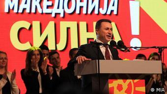 Mazedonien Pro-Regierungsdemonstration