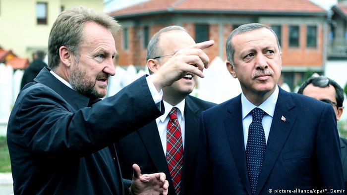 Bosnien und Herzegowina Bakir Izetbegovic und Recep Tayyip Erdogan in Sarajevo