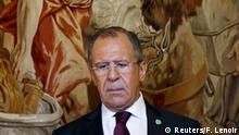 19.5.2015 *** Russian Foreign Minister Sergei Lavrov attends a signing ceremony of a bilateral agreement on double taxation between Russia and Belgium, at the Egmont Palace in Brussels, Belgium, May 19, 2015. REUTERS/Francois Lenoir