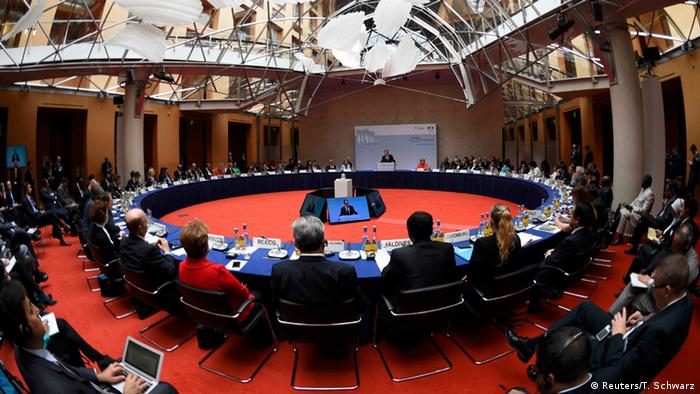 High-level talks at the Petersberg Dialogue (Photo: REUTERS/Tobias Schwarz/Pool)