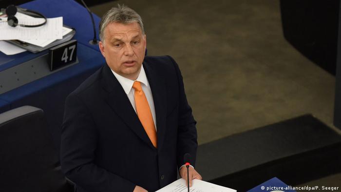 Frankreich Viktor Orban Rede vor dem EU-Parlament