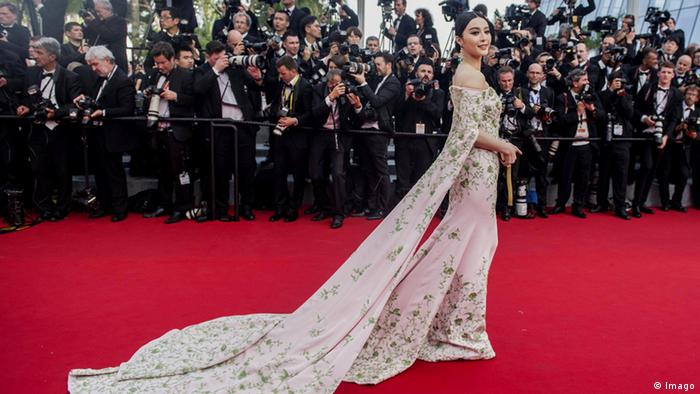 chinese actressFan Bingbing on the red carpet in Cannes.