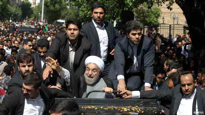 Iran Staatspräsident Rohani in Tabriz