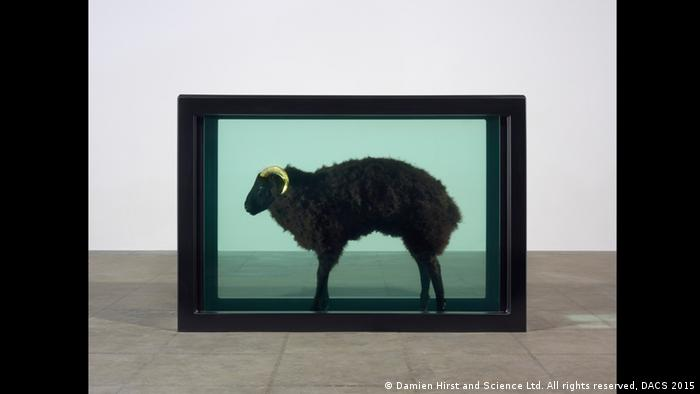 Damien Hirst, Black Sheep with Golden Horns, 2009