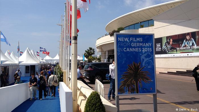 German Film poster in Cannes 2015, Copyright: DW/H. v. Bock